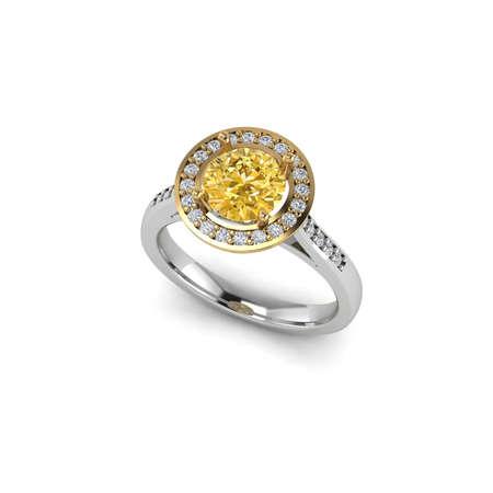 zafiro: anillo de zafiro amarillo