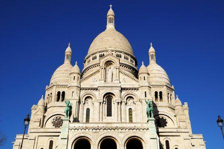 love dome: Sacre-Coeur basilica details, Paris highest point  Stock Photo
