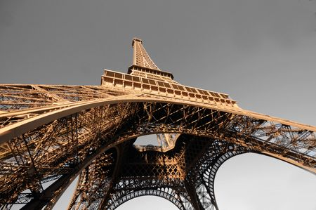 The Eiffel Tower symbol of Paris, stands at 1063ft tall. Built in 1889 for the Universal Exhibition Stock Photo - 2696694