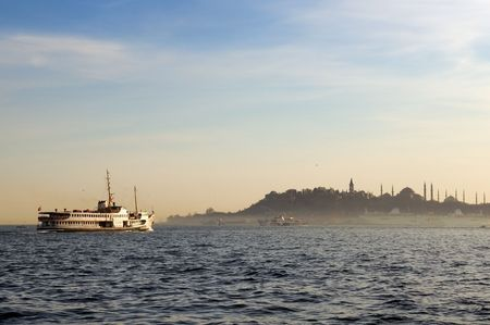 ships in istanbul Stock Photo