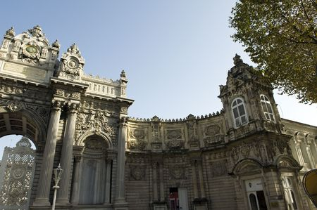 architectural detail: Dolmabahce palace, Istanbul, Turkey