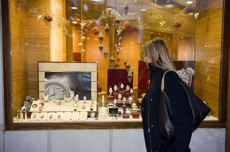 woman shopping for christmas