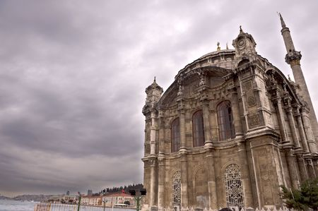 bosporus: Ortakoy mosque and bosporus bridge