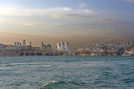 bosporus: view of Istanbul by Bosporus