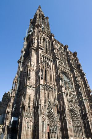cathedral in Strasbourg (AlsaceFrance)   photo