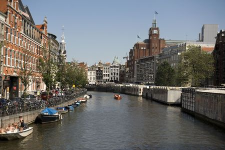 Typical Amsterdam canals views, Netherlands Stock Photo - 5217821
