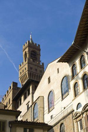 palazzo: Famous Palazzo Vecchio in Florence.    Stock Photo