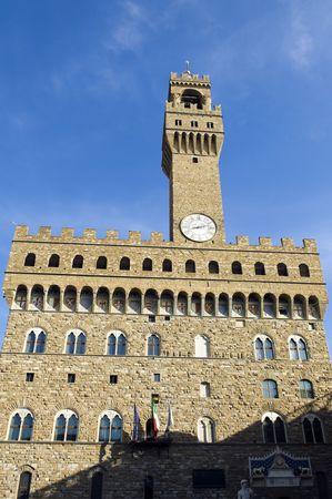 vechio: Famous Palazzo Vecchio in Florence.    Stock Photo