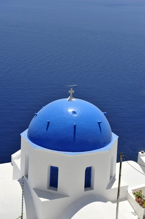 Church bells on Santorini island, Greece   photo