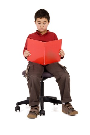 school boy reading a book Stock Photo - 8026058