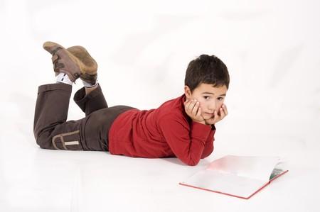 school boy reading a book Stock Photo - 8026060