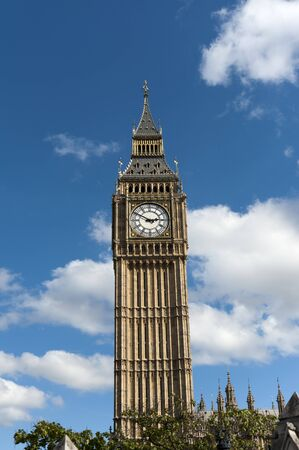 clock tower: the big ben clock tower  in london  Stock Photo