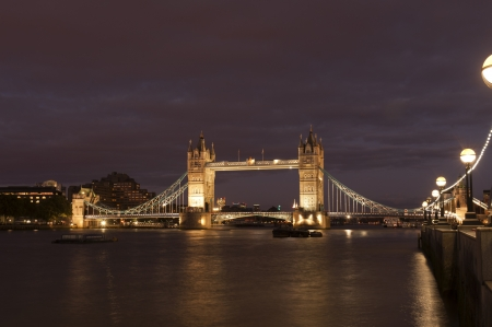 the tower bridge in London on River Thames photo