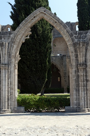 the monastery in bellapais, a small village in northern cyprus photo