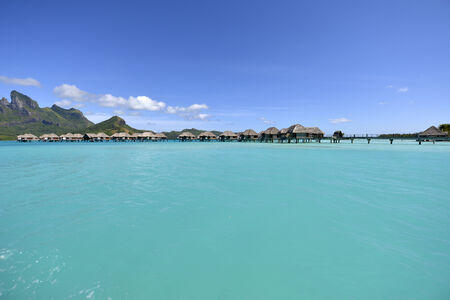 polynesia: Crystal clear waters of tropical Bora Bora in Bora Bora, French Polynesia