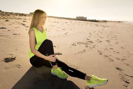 santa monica: Sitting on the Santa Monica beach