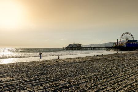 monica: santa monica pier, Los Angeles, California Editorial
