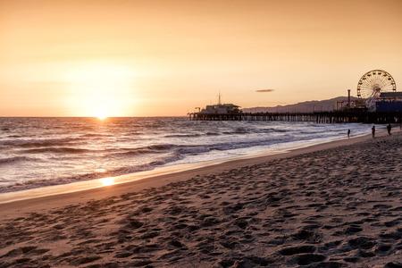 monica: santa monica beach, Los Angeles, California