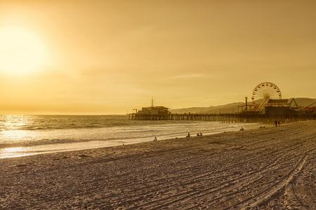 santa monica: santa monica pier, Los Angeles, California Editorial