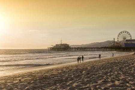 california beach: santa monica beach, Los Angeles, California