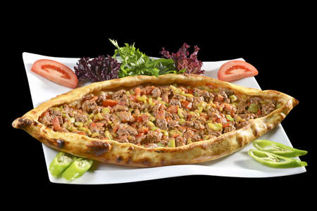 diced: diced meat pide