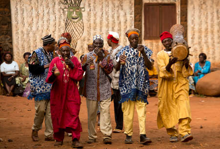 baile afro: Traditional African Dance at Babungo Kingdom in Cameroon Editorial