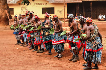 african dance: Traditional African Dance at Babungo Kingdom in Cameroon Editorial