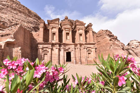 sculpted: The Monastery Sculpted Out Of The Rock At Petra In Jordan