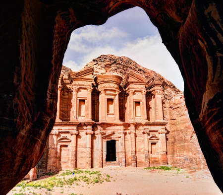 The Monastery, Petras largest to monument in Jordan, dates from the 1st century BC, the name is the Arabic translation of the name Deer Stock Photo