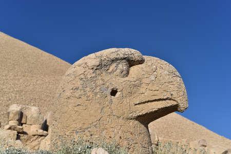 West Terrace of Mount Nemrut, Turkey: Head of Persian Eagle God