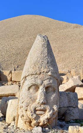 West Terrace of Mount Nemrut, Turkey Zeus Oromasdes Editorial