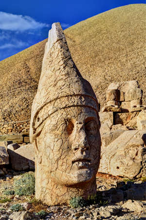 West Terrace of Mount Nemryt, Turkey: Head of Apollo  Mithra  Helios  Hermes Editorial