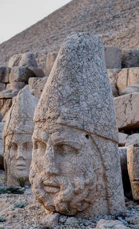 East Terrace of Mount Nemrut, Turkey: Heads of Antiochus I Theos of Ares and Heracles Artagnes