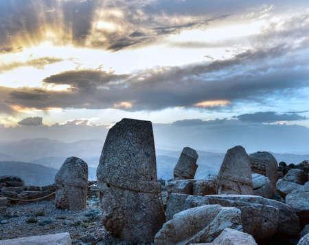 Some of the statues near the peak of Mount Nemrut, Turkey