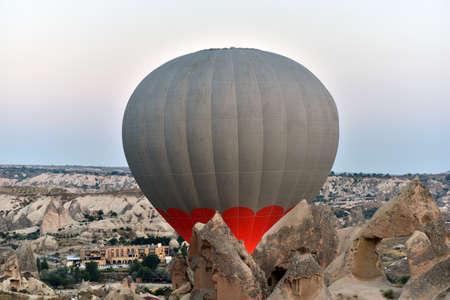 Hot-Air Ballooning High Above Cappadocia, Turkey Stock Photo