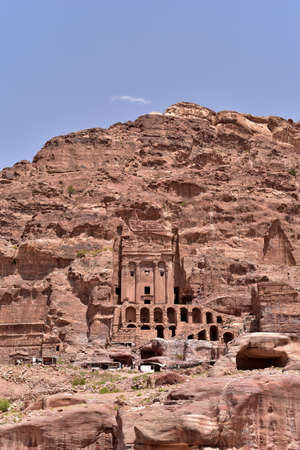Urn Tomb, Nabataean royal stone tombs carved into the rock, Petra
