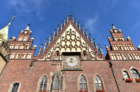 XIII century Gothic Town Hall in Wroclaw, Poland