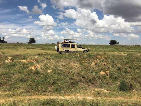 A Safari Jeep at the Ngorongoro Conservation Area Tanzania Eastern Africa