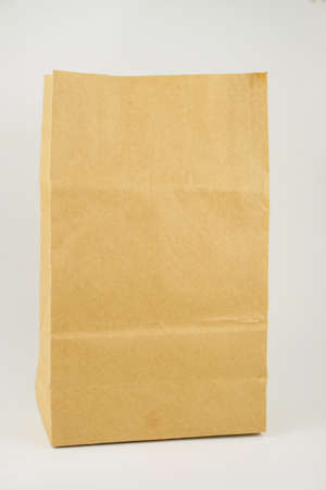 Paper Bag Isolated white background. Copy Space Concept Stock fotó