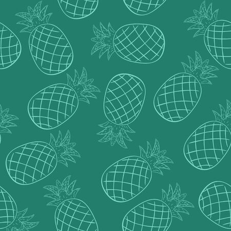 Pineapple Irregular Seamless Pattern. Unique and Trendy irregular seamless pattern background for your unique design.