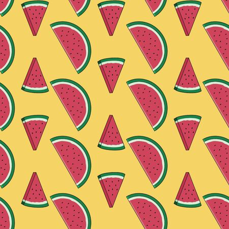 Unique Green and Fresh Watermelon Irregular Seamless Pattern. Unique and Trendy seamless pattern background for your unique design.