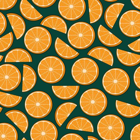 Unique and Trendy Juicy Orange Slices Irregular Seamless Pattern. Unique and Trendy seamless pattern background for your unique design.