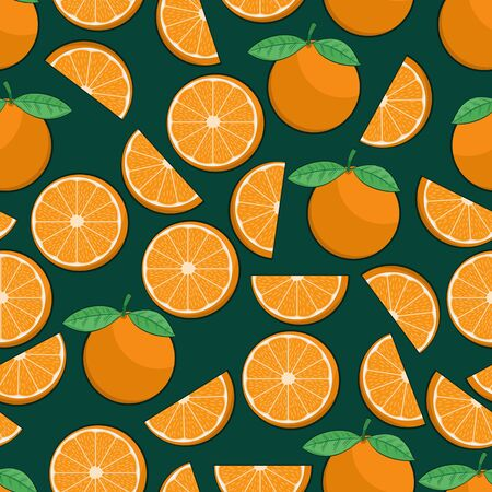 Unique and Trendy Juicy Orange Irregular Seamless Pattern. Unique and Trendy seamless pattern background for your unique design.