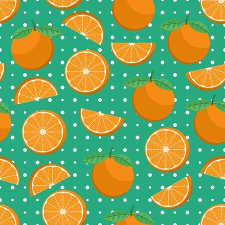 Unique and Trendy Juicy Orange Irregular Seamless Pattern. Unique and Trendy seamless pattern background for your unique design.