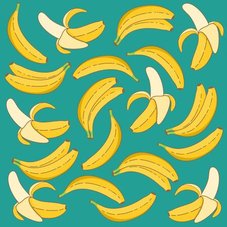 Unique and Trendy Hand Drawn Fresh Banana Background. Unique and Trendy Concept or Design For Your Unique Background.