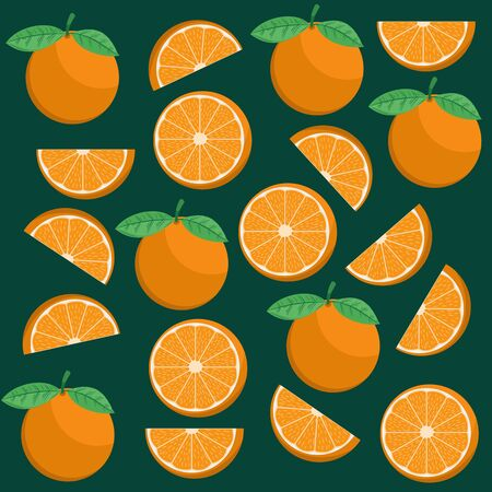 Unique and Trendy Hand Drawn Fresh Orange Background. Unique and Trendy Concept or Design For Your Unique Background.  イラスト・ベクター素材