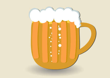 Mug of beer   Stock Vector - 14993627