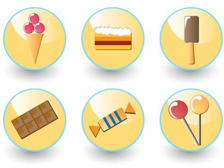 Sweets icon set.