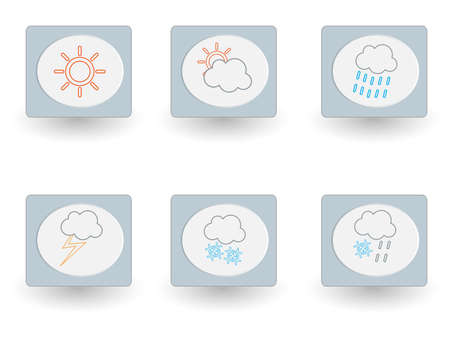 Weather icon set.  Illustration