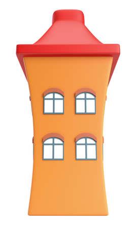 Cartoon styled house isolated on white background Stock Photo - 17475369